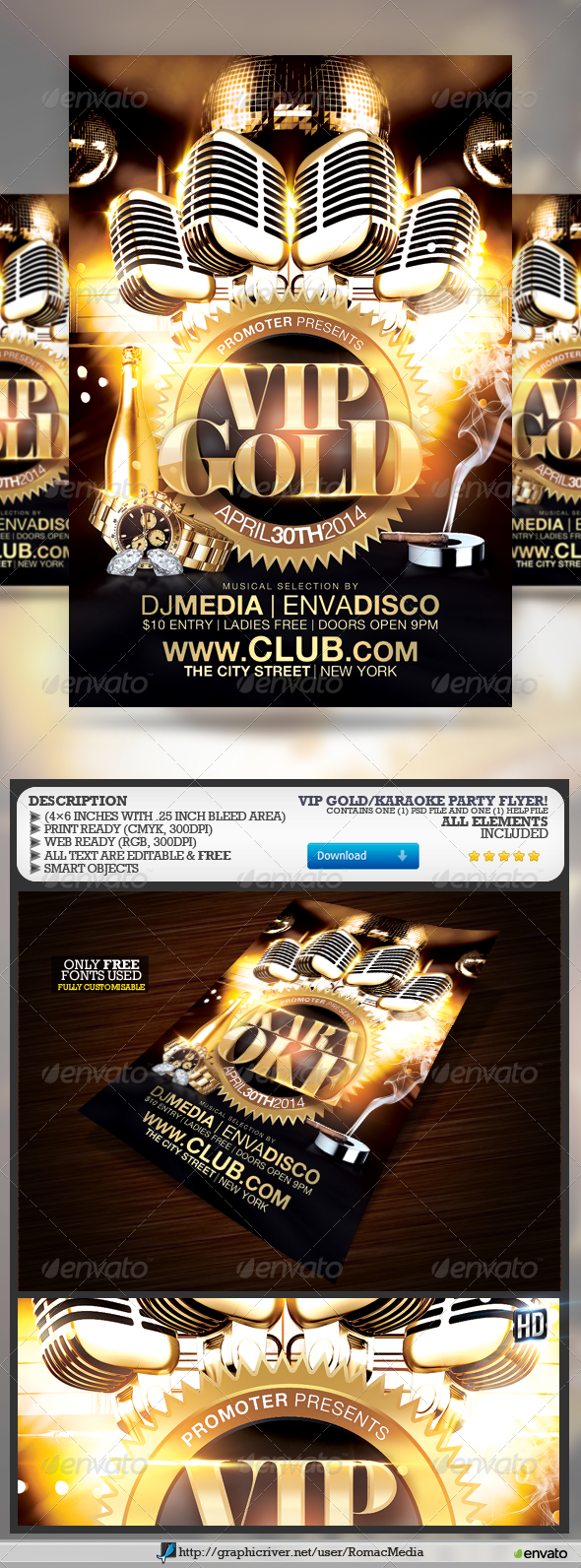 VIP Gold/Karaoke Party - Clubs & Parties Events