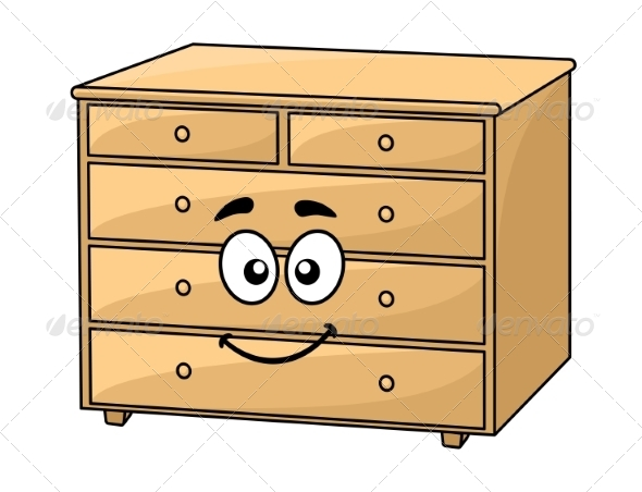 Cartoon Wooden Chest of Drawers - Miscellaneous Characters
