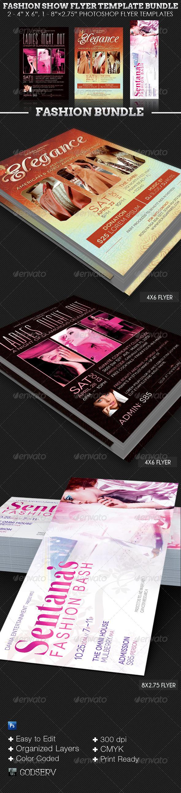 Fashion Show Flyer Template Bundle - Events Flyers