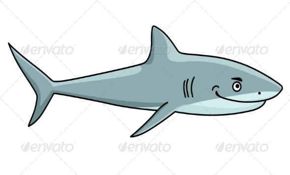 Smiling Ferocious Shark - Animals Characters