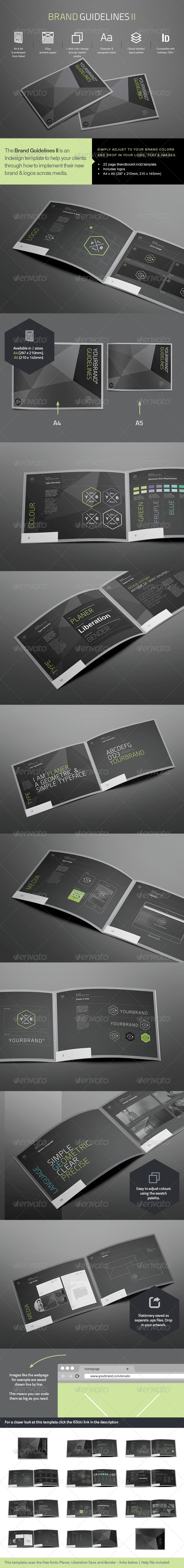 Brand Guidlines II Template - Informational Brochures