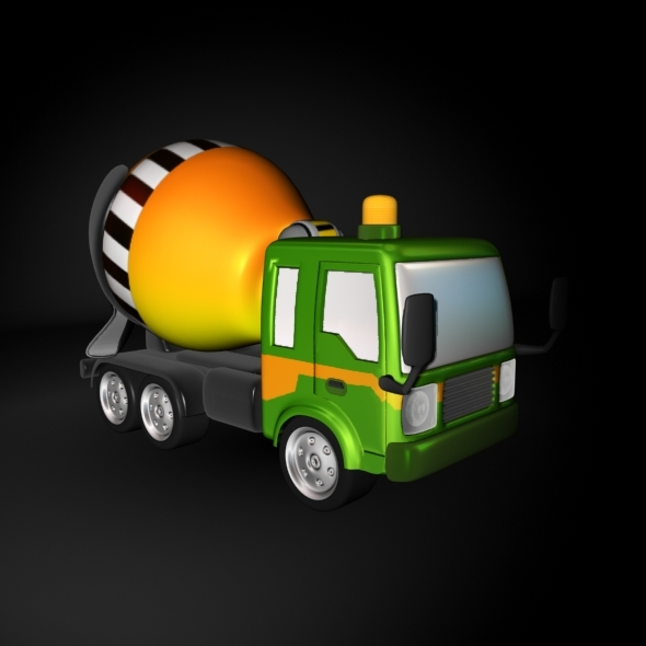 Cartoon Cement Mixer Truck