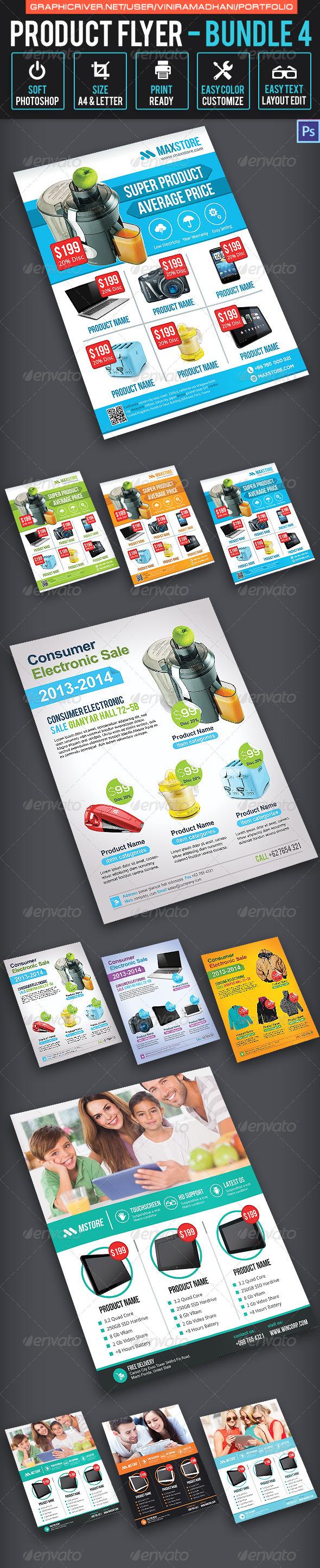 Product Promotion Flyer Bundle 4 - Commerce Flyers