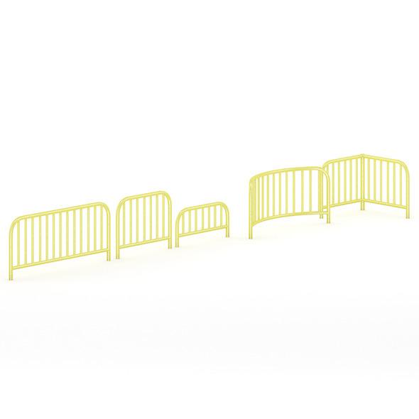 Yellow Sidewalk Barriers - 3DOcean Item for Sale