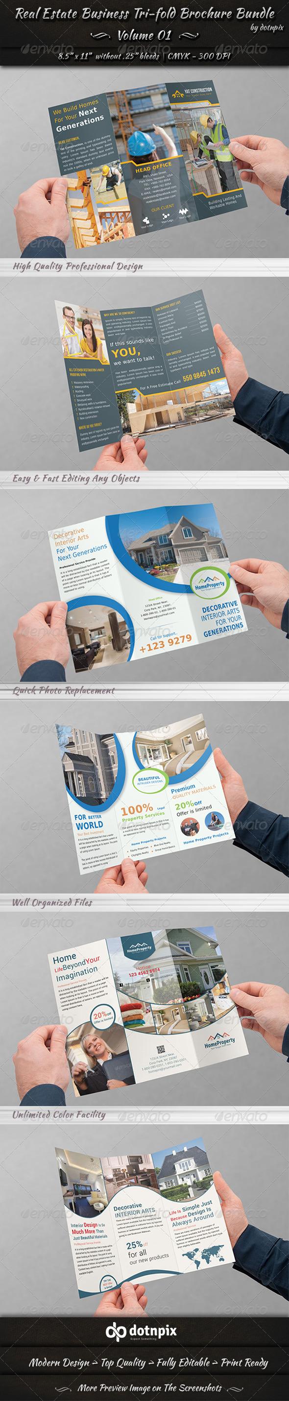 Real Estate Tri-fold Brochure Bundle | Volume 1 - Corporate Brochures