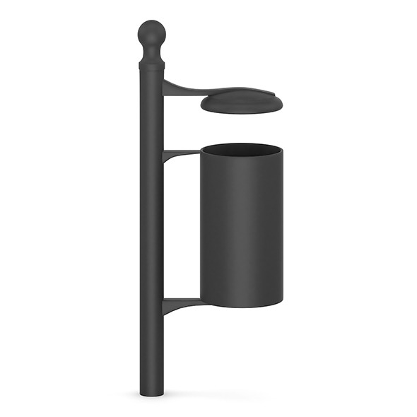 Street Black Recycle Bin - 3DOcean Item for Sale