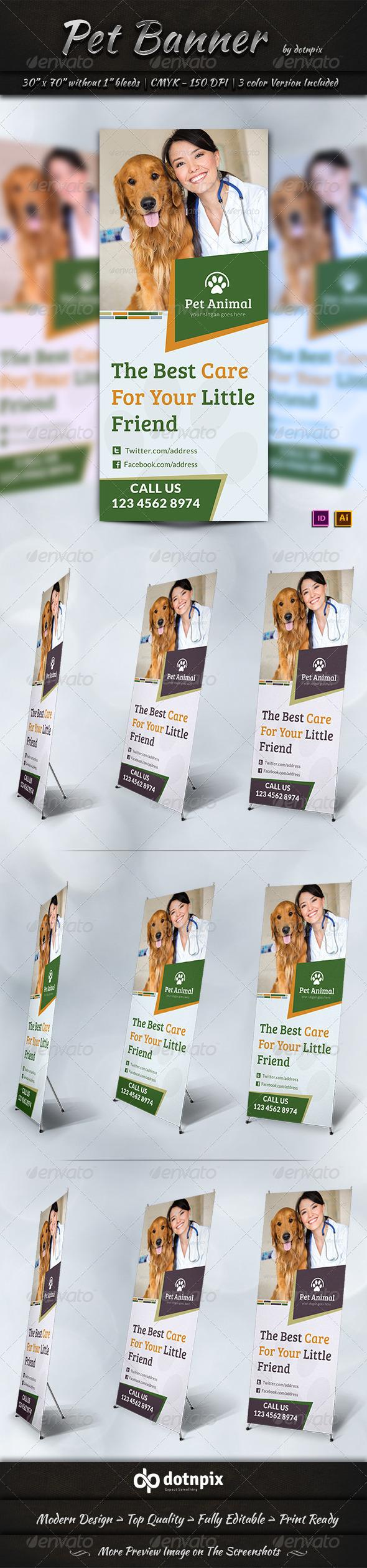 Pet Banner Template - Signage Print Templates
