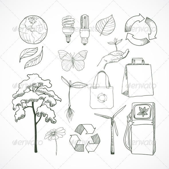 Doodles Ecology and Environment Set - Industries Business