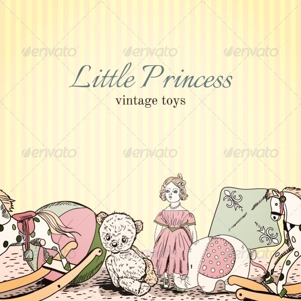 Vintage Toys Shop Leaflet - Borders Decorative