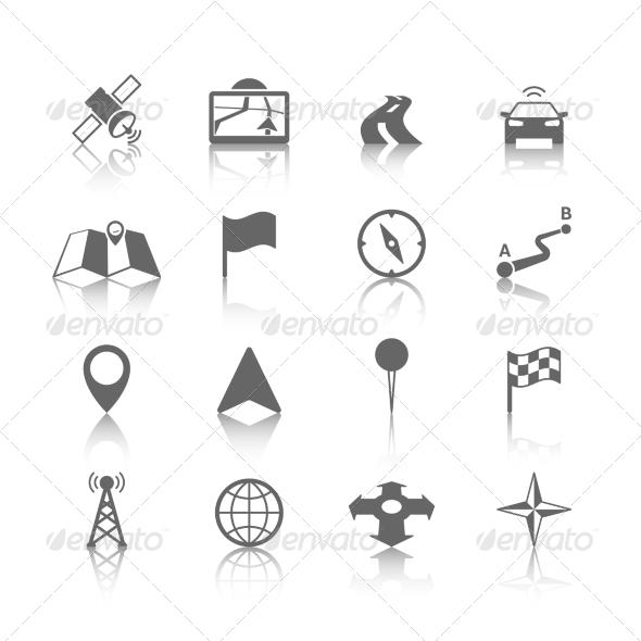 Navigation Icon Set - Web Icons