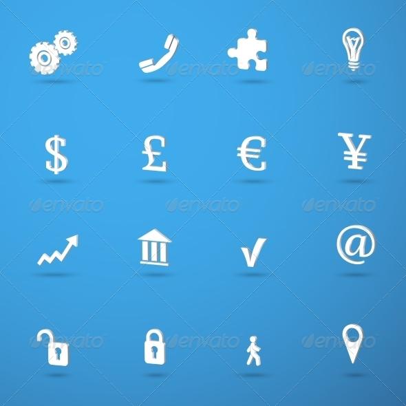 Business infographic icons set - Web Elements Vectors