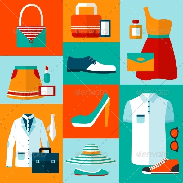 Shopping Fashion Design Elements - Retail Commercial / Shopping