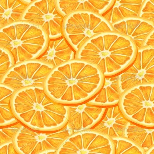 Sliced Orange Seamless Background - Backgrounds Decorative