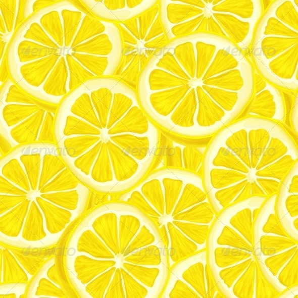 Sliced Lemon Seamless Background - Backgrounds Decorative