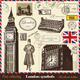 Vector set of London symbols 2 - GraphicRiver Item for Sale