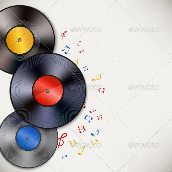 Vinyl Record Background - Media Technology