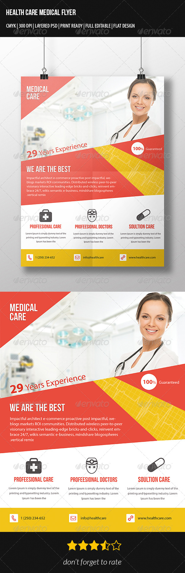Corporate Health Care Flyer - Corporate Flyers