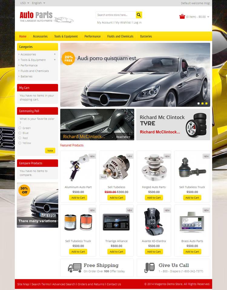 Auto Parts Tools Magento Theme By Templatemela Themeforest