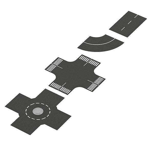 Road Elements Set - 3DOcean Item for Sale