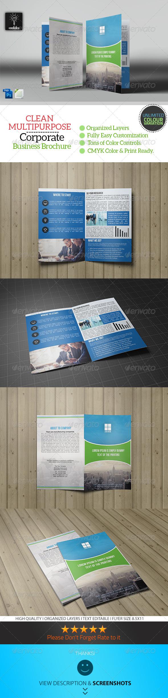 Business Brochure Bifold Template Vol04 - Corporate Brochures