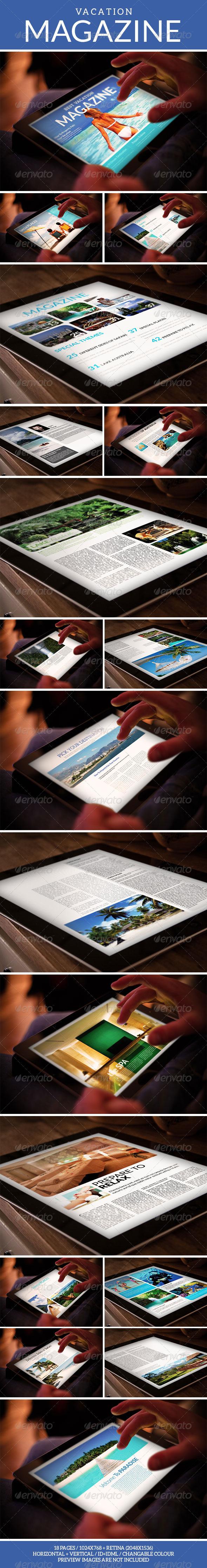 Tablet Vacation Magazine Template - Digital Magazines ePublishing