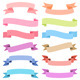 Various Pastel Ribbon Set - GraphicRiver Item for Sale