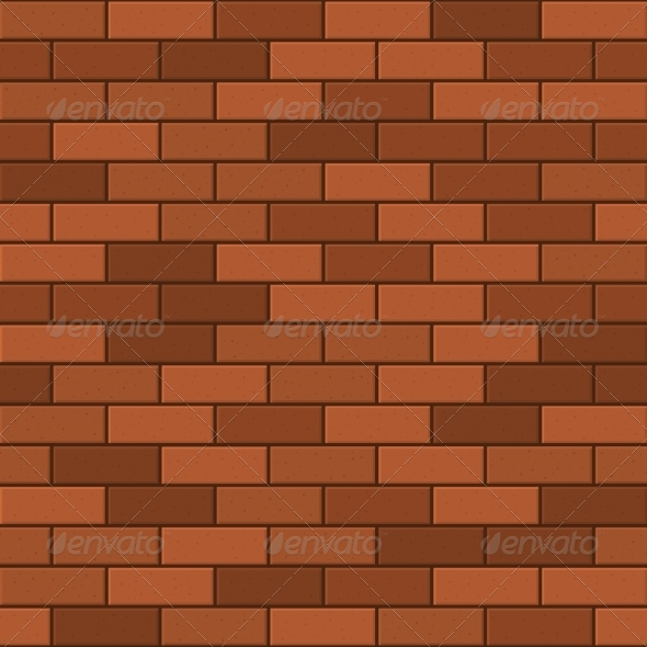 Seamless Pattern Of Red Brick