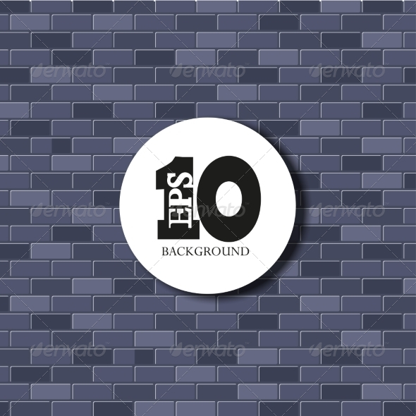 Vector Brick Background Texture EPS10 - Backgrounds Decorative