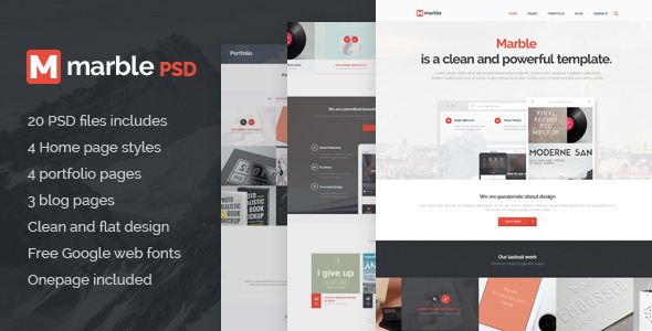 Marble - Multipurpose PSD Template - Corporate PSD Templates