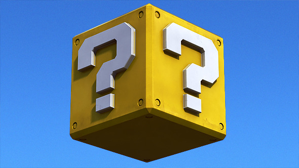 Question Mark Game Block - 3DOcean Item for Sale