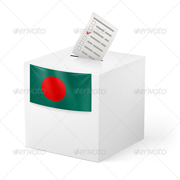 Ballot Box with Voting Paper. Bangladesh - Miscellaneous Vectors