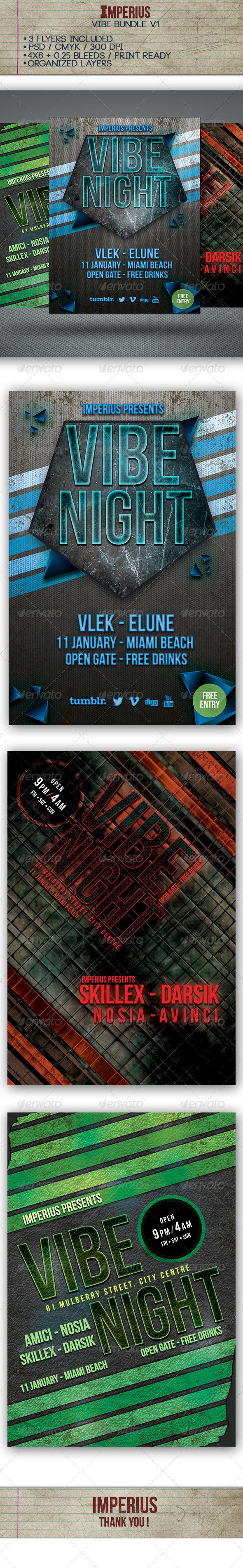 Vibe Bundle Vol.1 - Flyers Print Templates