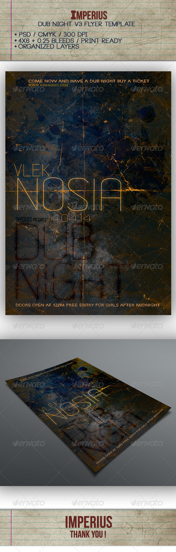 Dub Night V3 - Flyers Print Templates