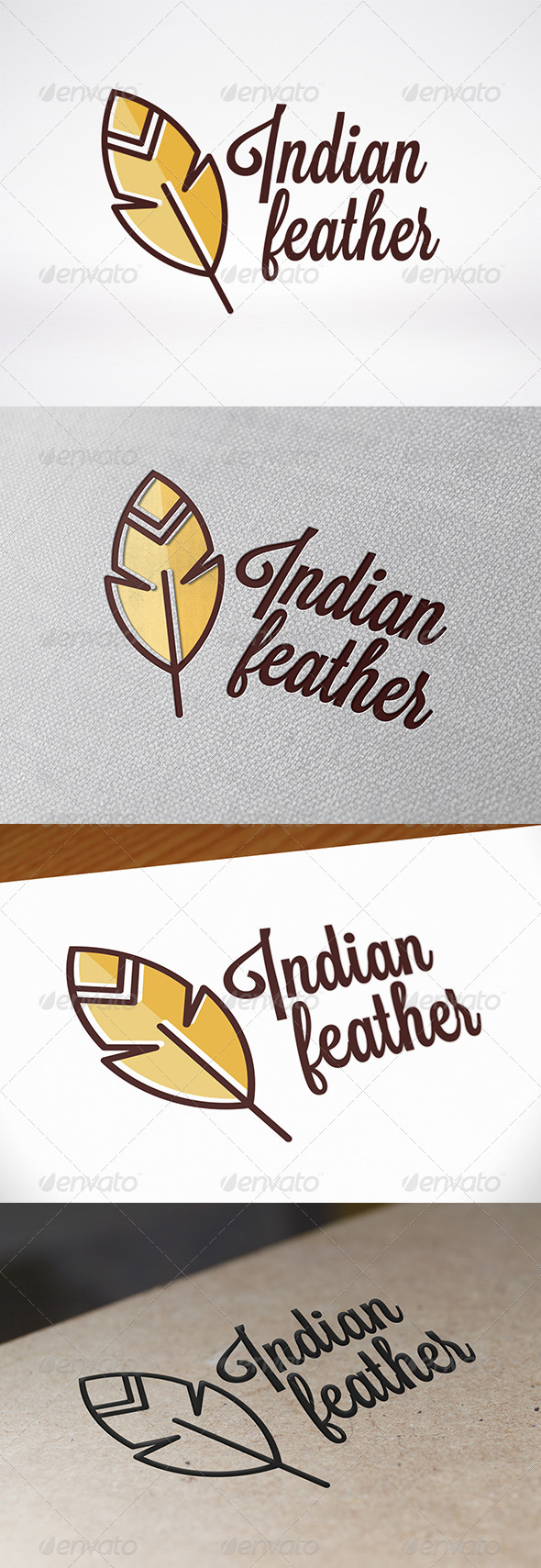 Feather Logo Template - Objects Logo Templates