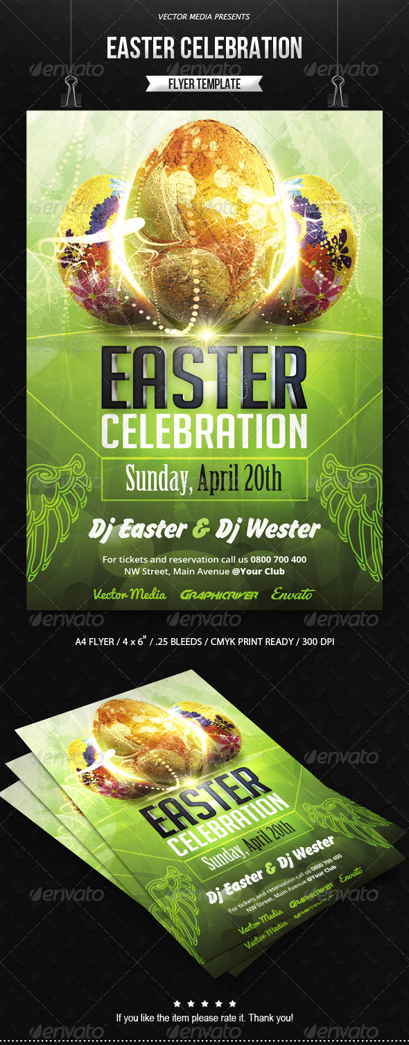 Easter Celebration - Flyer - Clubs & Parties Events