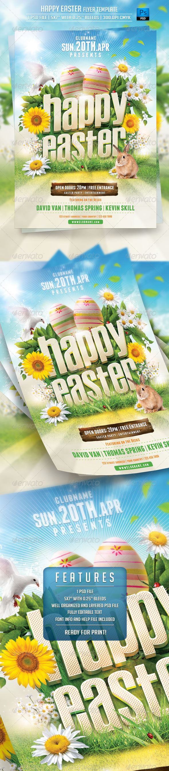 Happy Easter Flyer Template - Holidays Events