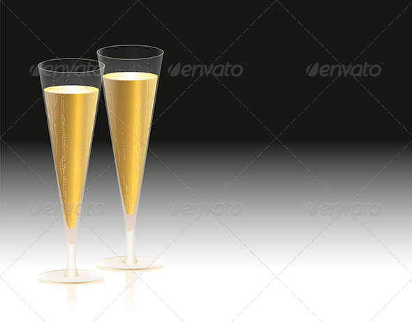 Champagne Glasses - Miscellaneous Seasons/Holidays