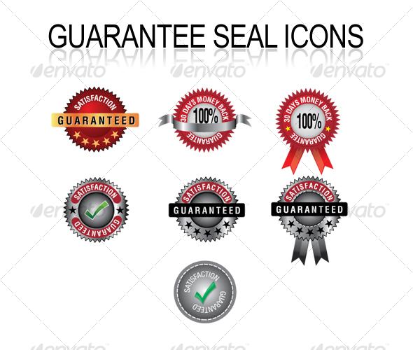 Custom Guarantee Seal Icons - Technology Conceptual