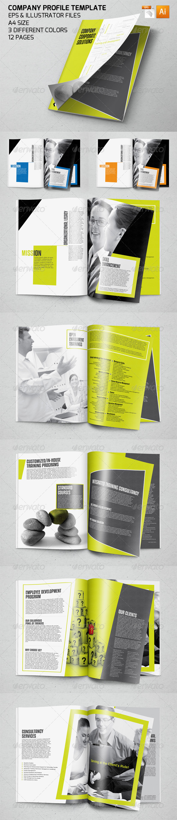 Professional Company Profile Template by ZONKASH | GraphicRiver