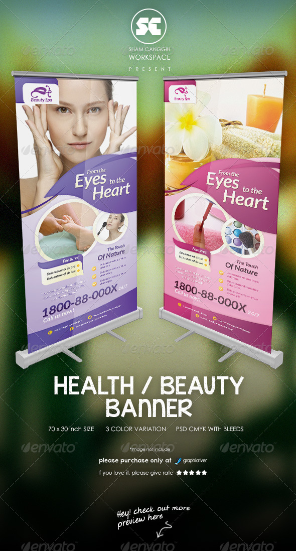 Modern Beauty Spa Banner - Signage Print Templates