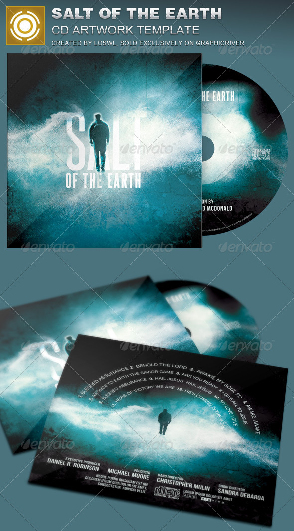 salt of the earth cd artwork template by loswl