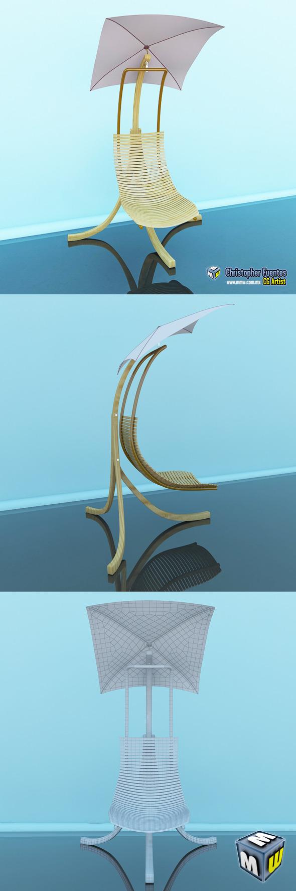 Beach Chair Max 2011 - 3DOcean Item for Sale