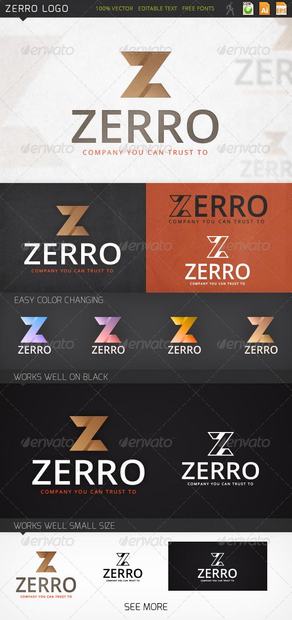 Zerro Letter Z Logo Template - Letters Logo Templates