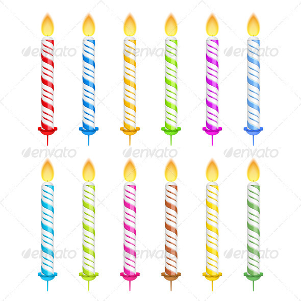 Birthday Candles - Objects Vectors