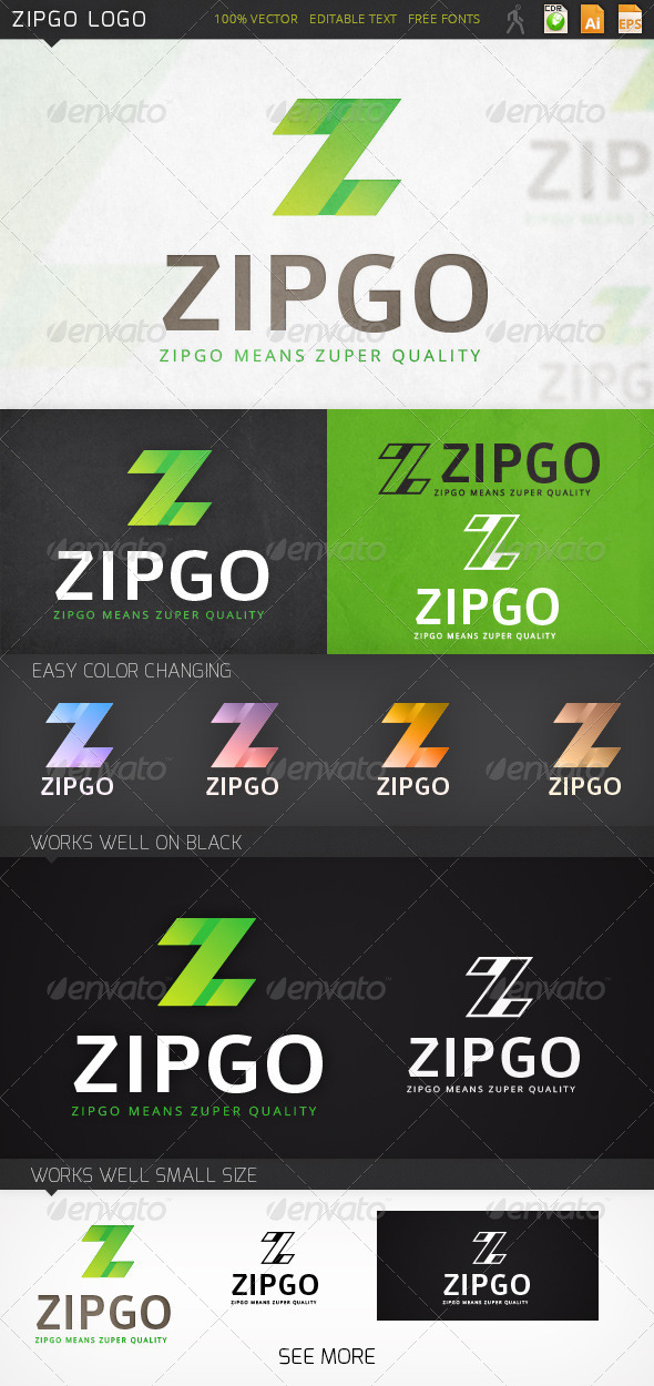 Zipgo Letter Z Logo Template - Letters Logo Templates