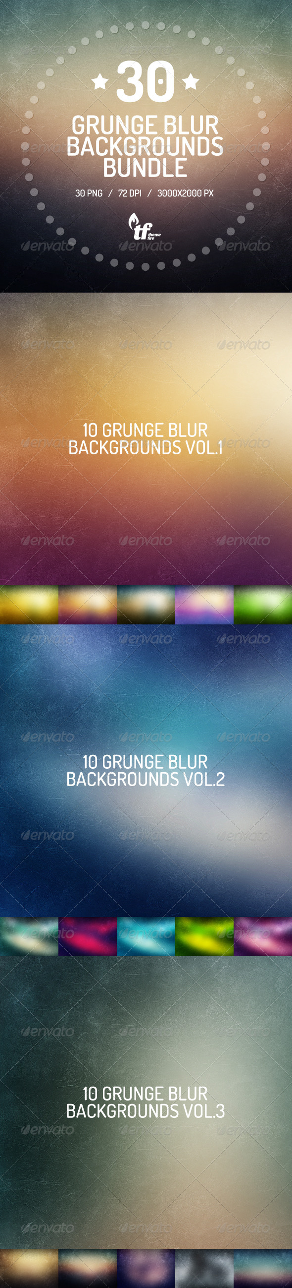 30 Grunge Blurred Backgrounds Bundle - Backgrounds Graphics