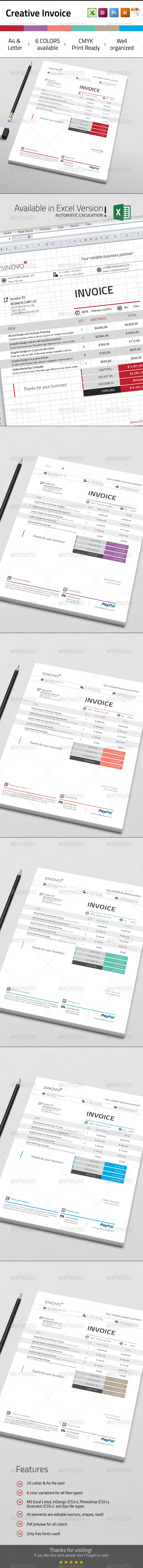 Creative Invoice - Proposals & Invoices Stationery