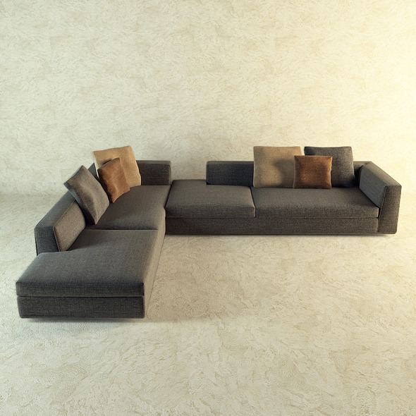 Corner sofa by Minotti  - 3DOcean Item for Sale