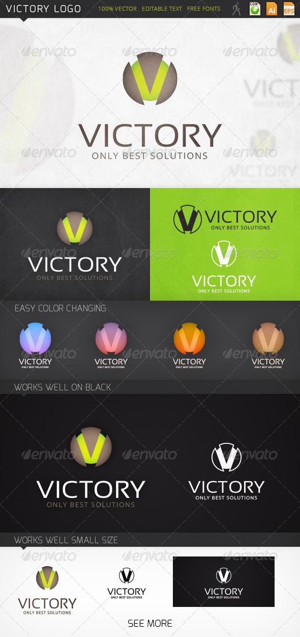 Victory Letter V Logo Template - Letters Logo Templates