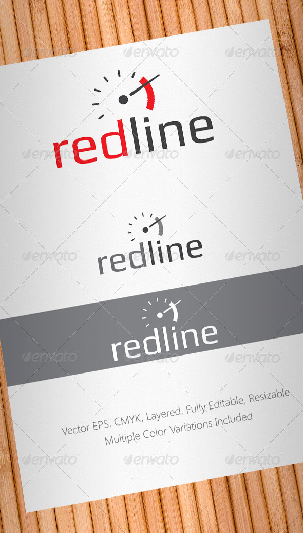 Redline High Performance Auto Parts Logo Template - Abstract Logo Templates